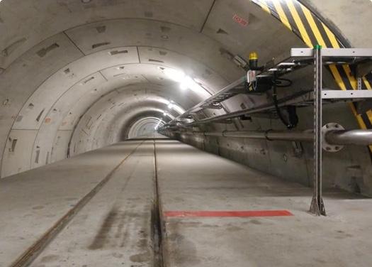 Fragment oczyszczalni ścieków – tunel